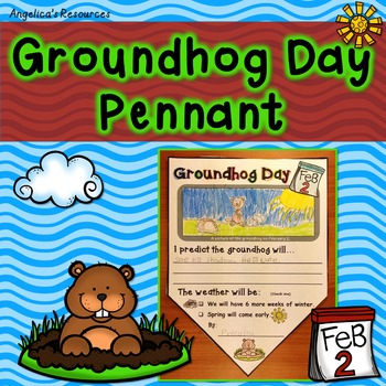 Groundhog Day Pennant