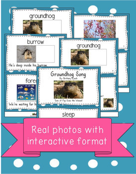 Groundhog Day Vocabulary Book and Song