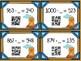 Groundhog Day 3 Digit QR Subtraction: Missing Minuend & Subtrahend Flash Cards