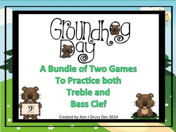 Groundhog Day - A Bundle of 2 Games to Practice Treble and Bass Clef Notation
