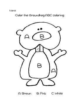 Groundhog Day ABC Coloring