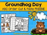 Groundhog Day ABC Order Cut and Paste Printable---FREEBIE
