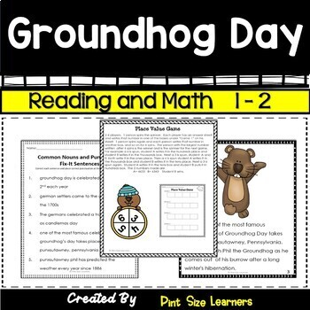 Groundhog Day Activities 1st and 2nd grades