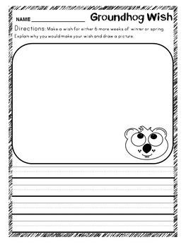 Groundhog Day Craft & Activities kindergarten