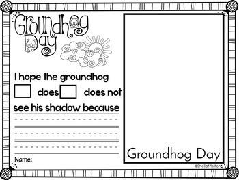 Groundhog Day Printables NO PREP FREEBIE!!