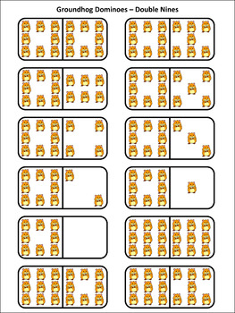 Groundhog Day Activities: Groundhog Day Dominoes Math Activity & Math Game