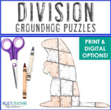 Groundhog Day Activities   Groundhog Day MATH Activities   Division Puzzles
