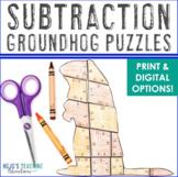 Groundhog Day Activities   Groundhog Day MATH Activities   Subtraction Puzzles
