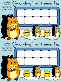 Groundhog Day Activities:Groundhog Day Ten Frames Winter Math Activity Packet