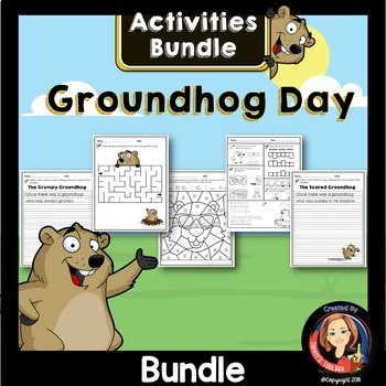 Groundhog Day Activities and Writing Bundle
