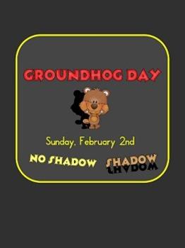 Groundhog Day Activities first, second, third grade