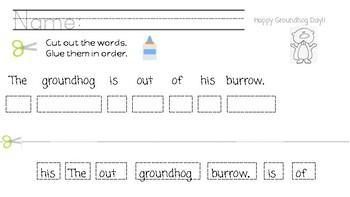 Groundhog Day Activity POP pronouns