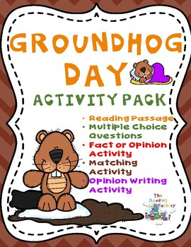 Groundhog Day Activities - Reading Comprehension and Writing