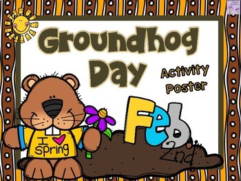 Groundhog Day Poster Activity