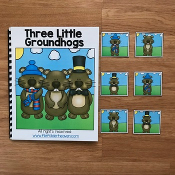 Groundhog Day Adapted Book:  Three Little Groundhogs