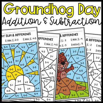 Groundhog Day- Addition and Subtraction