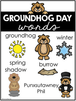 Groundhog Day & All About Groundhogs