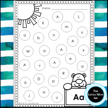 Groundhog Day Alphabet | Groundhog Day Letter Practice | Letter Recognition