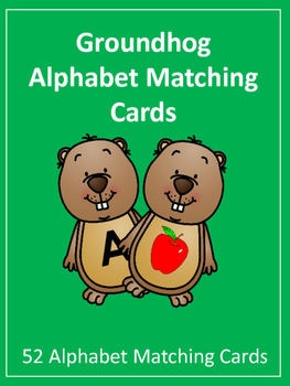 Groundhog Day: Alphabet Matching Cards