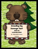 Groundhog Day Alphabet Scavenger Hunt: Upper and Lowercase, Center & Printables
