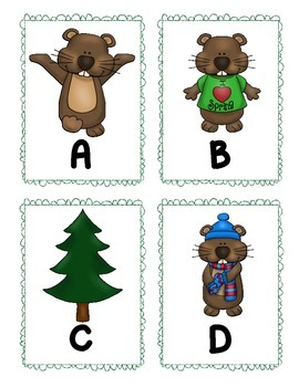 Groundhog Day Alphabet Scavenger Hunt: Upper and Lowercase, Center & Printables