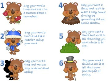 Groundhog Day Articulation for R, S, TH, L, and SH/CH