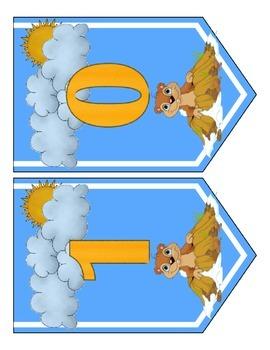Groundhog Day Banner Chevron Set - Entire Alphabet & Numbers
