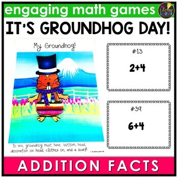 Groundhog Day Basic Addition Facts Game