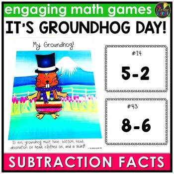 Groundhog Day Basic Subtraction Facts Game