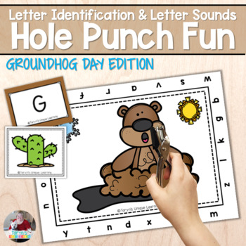 Letter Recognition and Sounds- Groundhog Day Hole Punch