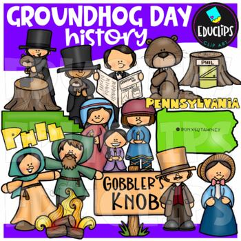 Groundhog Day Big Bundle {Educlips Clipart}