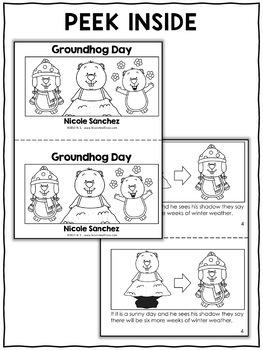 Mini Book - Groundhog Day Activity