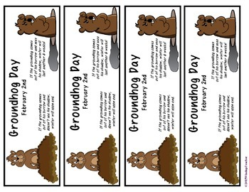 Groundhog Day Bookmarks