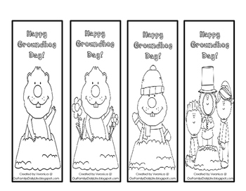 Groundhog Day Bookmarks