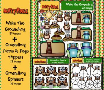 Groundhog Day Bundle - Clip art