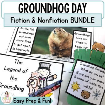 Groundhog Day Bundle: Groundhog Headband, Crafts & Nonfiction Unit