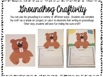 Groundhog Day Bundle (Graphic Organizers, Report, and a Cute Craft!)