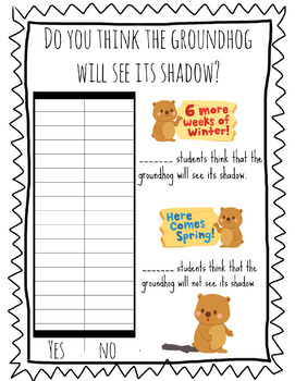 Groundhog Day Bundle ( Worksheets, Fact Sheets, Craftivity and Activity) Hat