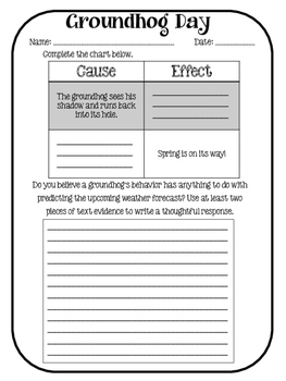 Groundhog Day CCSS Reading Packet!