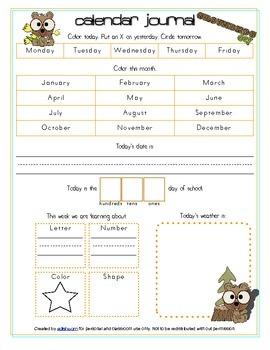Groundhog Day Calendar/Circle Time Journal Sheet