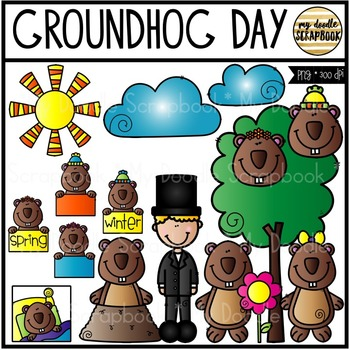 Groundhog Day (Clip Art for Personal & Commercial Use)