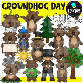 Groundhog Day Clip Art Bundle {Educlips Clipart}