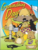 Groundhog Day Clip Art for Groundhog Day Activities on February 2nd