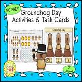 Groundhog Day Activities and Task Cards