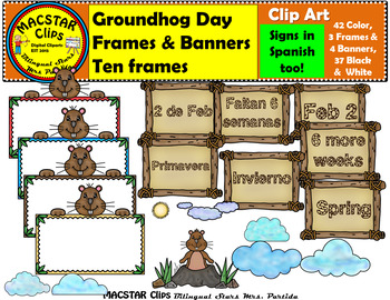 Groundhog Clipart & Frames Personal and Commercial Use 91 images! Groundhog Day