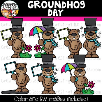 Groundhog Day Clipart {Groundhog's Clipart}