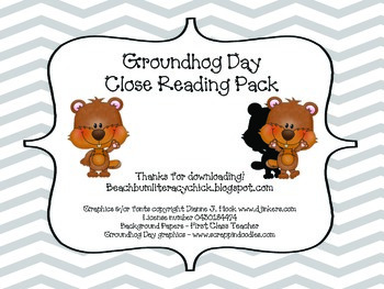 Groundhog Day - Close Reading Pack