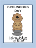 Groundhog Day Color By Addition