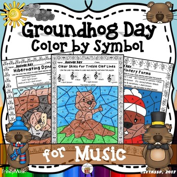 Groundhog Day Color By Symbol (Music)