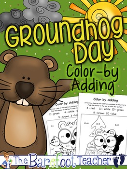 Groundhog Day Color-by-Adding